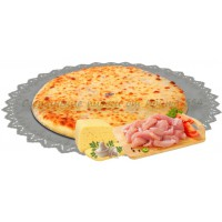 Пирог с курицей, грибами и сыром 1200 гр