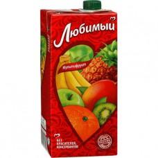 Сок Любимый Мультифрукт 1 литр